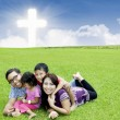 Celebrating Easter together in park — Foto Stock