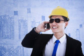 Contractor call — Stock Photo