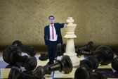 Business checkmate — Stock Photo