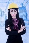 Architect with arms crossed — Stock Photo