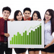 Business presentation and bar chart — Stock Photo