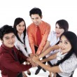 Business team join hands — Stock Photo