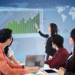 Business global meeting and presentation - Stock Photo