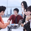 图库照片: Successful contract in office