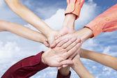 Equipe de negócios dêem as mãos — Foto Stock