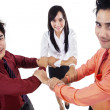 Business teamwork hold hands — Stock Photo #21776055