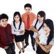 Confident business team isolated - Foto Stock