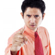 Angry businessman pointing — ストック写真