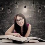 Happy student has bright idea — Stock Photo #21978089