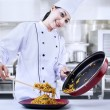Chef in action — Stock Photo #22143015