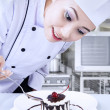 Chef preparing dessert — Stock Photo #22143197