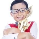 Boy proud of his achievement — Stock Photo #22836014