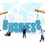 Business development - isolated — Stock Photo