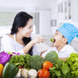 Healthy family eating — Stock Photo #23268668