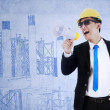 Contractor announce meeting - Stock Photo