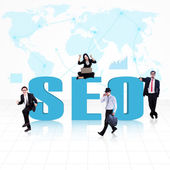 Business SEO - Search Engine Optimization — Stock Photo