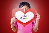 карты любви дать мальчик мама — Стоковое фото