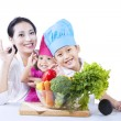 Healthy family - isolated — 图库照片