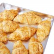 Croissant isolated on white — Stock Photo
