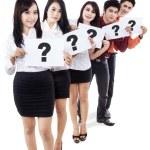 Business recruitment - isolated — Stock Photo