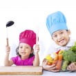 Chef kids ready to cook — Stock Photo #24617447