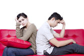 Asian couple fight - isolated — Stock Photo
