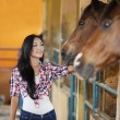 Royalty-Free Stock Photo: Asian woman and horse