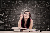 College student studie i klassen — Stockfoto