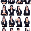 Business woman useful faces — Stock Photo