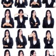 Business woman useful faces - Stock Photo