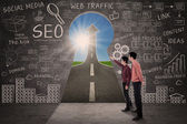 Business partner cerca seo concetto di successo — Foto Stock
