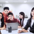 Stock Photo: Business manager and team in office