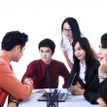 Business-Team-Vereinbarung treffen - isoliert — Stockfoto