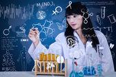 Docteur séduisante formule d'écriture sur bleu — Photo