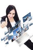 Empresaria como fotos en línea - aislado — Foto de Stock