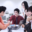 Stock Photo: Business team aggreement in office