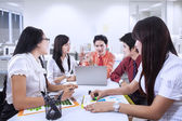 Business team meeting at office — Stock Photo