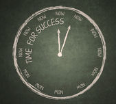 Time for success on blackboard — Stock Photo