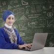 Beautiful teacher muslim — Stock Photo