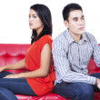 Angry couple sitting back to back — Stock Photo #31129409