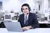 Handsome customer support — Stock Photo