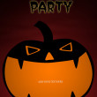 Card design of pumpkin for halloween party — Stock Photo
