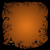 Blank halloween card design — Stock Photo