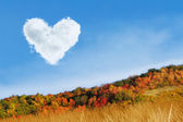Heart cloud at autumn day — Stock Photo