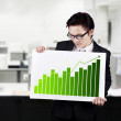Businessman with Business Graph — Stock Photo