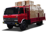 Delivery truck with boxes — Stock Photo