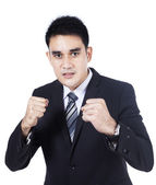 Business man ready for a fight — Stock Photo