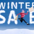 Happy winter sale — Stock Photo
