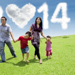 Asian family enjoying new year day  — Stock Photo