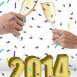 Stock Photo: Celebrating new year